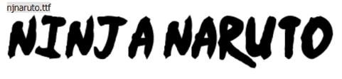 Fonte Naruto