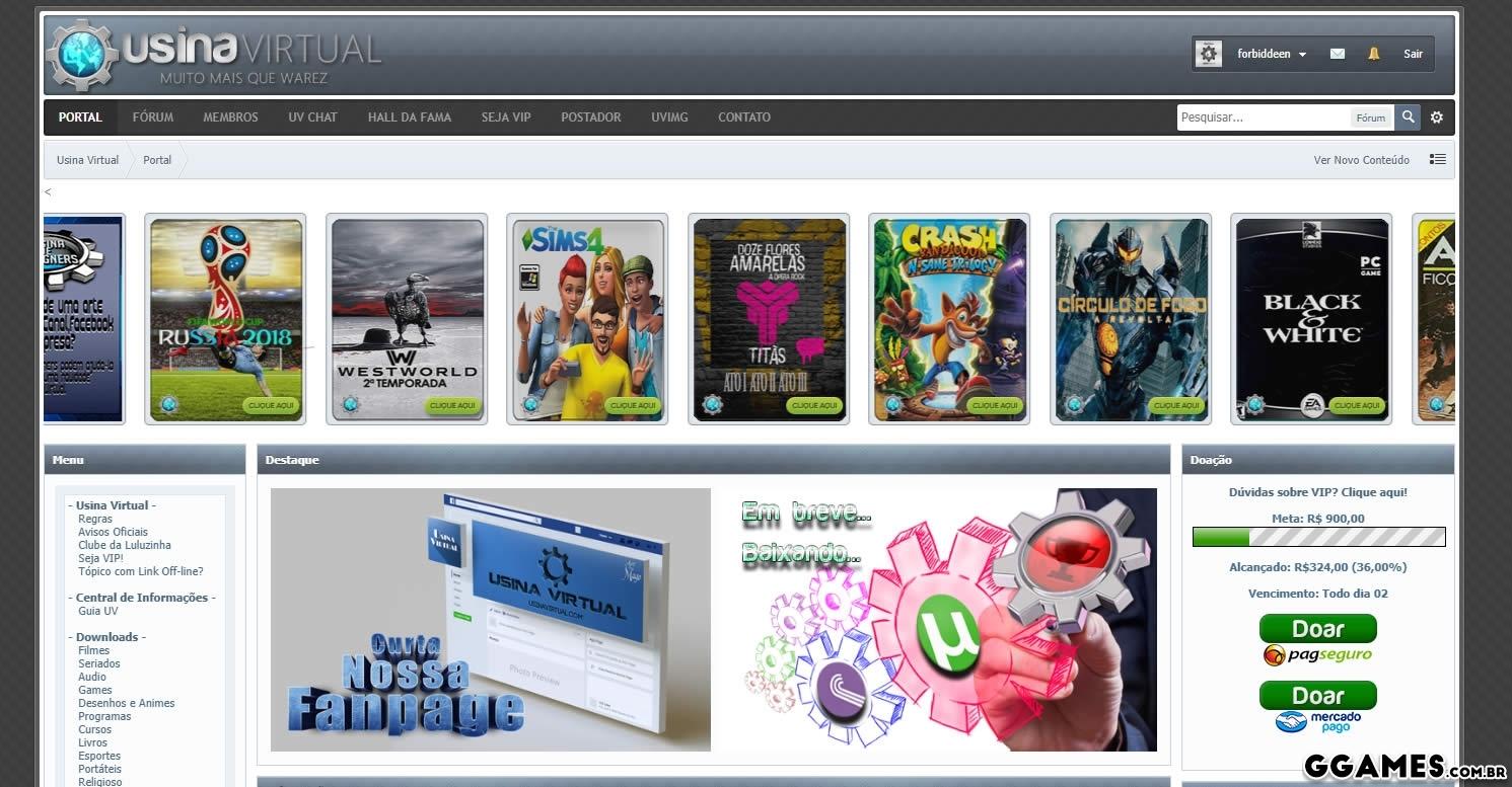 ca3803b6d  Fechado  Usina Virtual fecha parceria com o GGames e libera o cadastros  para nossos indicados