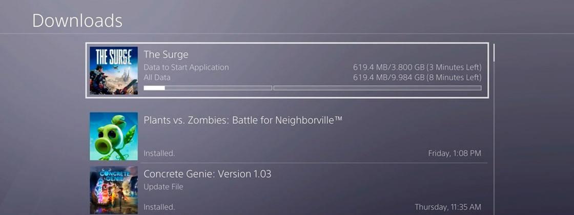 PS5 permitirá escolher quais partes do jogo você quer baixar