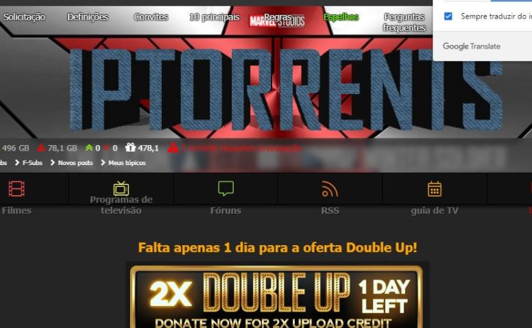 Convite IPTorrents